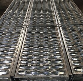 Perforated anti-slip profile STABLE 3000x300x50 mm stainless